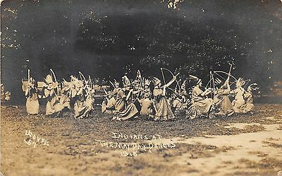 Indians Celebrating @ May Day Dances~Bows & Arrows~Traditional Dress~c1910 RPPC