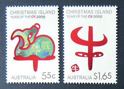 2009 Christmas Island Stamps - Lunar New Year- Year of the Ox - Set of 2 MNH