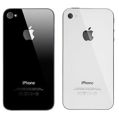 NEW Glass Replacement iPhone 4S Battery Back Rear Cover Door A1387 - WHITE BLACK