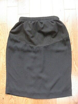 MIMI MATERNITY Black Knee Length Fully Lined Pencil Skirt Size Small