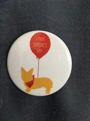 NEW Quirky, Retro and Vintage Looking Rare Corgi Pin Button