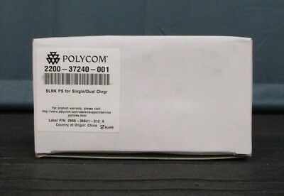 New Polycom Spectralink SLINK PS Single / Dual Charger Kit 2200-37240-001