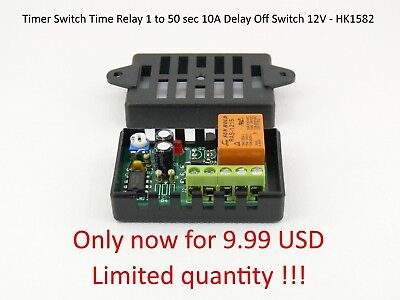 Timer Switch Time Relay Delay Off Switch 1 to 50 sec 10A 12V Car HK1582