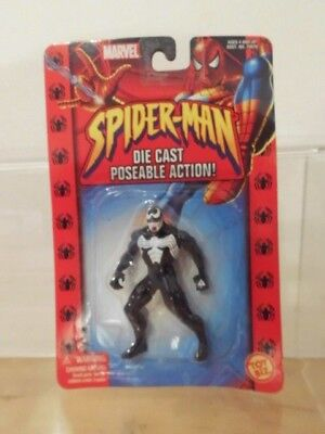 Superhelden Marvel Spider Man Die Cast poseable Figur Toy Biz 2002: Venom ovp !