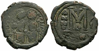 Ancient Byzantine 565-578 Justinus II Sophia Æ Bronze Large Follis