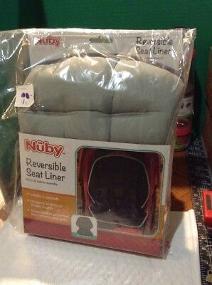 Lot Of 10 Nûby Reversible Baby Stroller Liner Universal Infant Seat Pad Blk&Gry