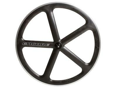front wheel 700c track 5 spokes carbon weave natural msw Encore Bike