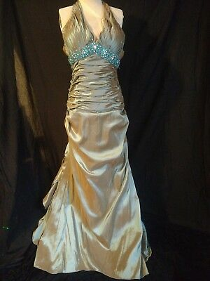 812d74e244 NWT! Brand New with tag! Unique! Prom Dress Green Blue beading size 6