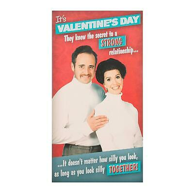 """Hallmark Humour Funny Open Valentine's Day Card """"Silly Together"""" - Medium"""