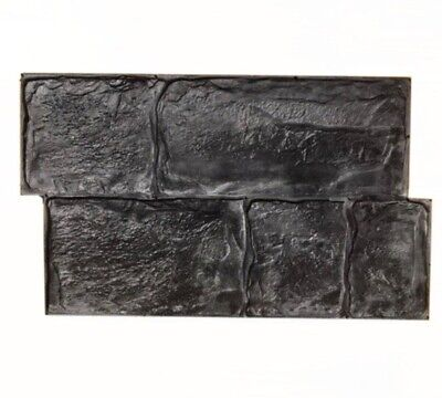 """Concrete texture stamp mat POLYURETHANE for printing on cement plaster """"Brook"""""""