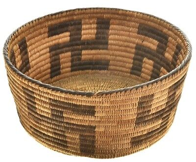 VINTAGE ANTIQUE Collectible Early 1930s Pima Indian Whirling Log Basket