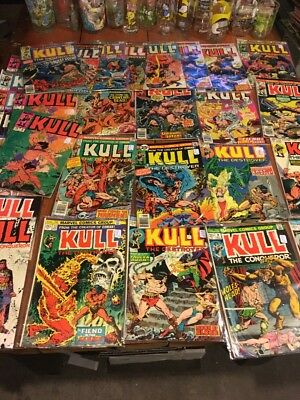 Lot Of 30 Kull The Destroyer & Conqueror Marvel Comics 70/80s Early Issues