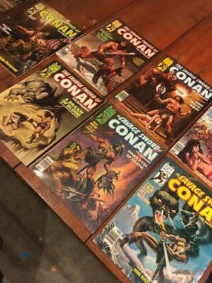 Lot Of 7 Marvel Comics The Savage Sword Of Conan Lot 4 Mid To Low Grade Readers
