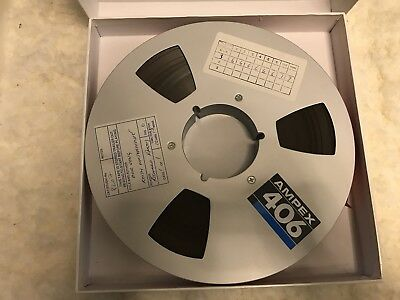 Lot of 4 Ampex 406 Reel-to-Reel 1 Inch Tape