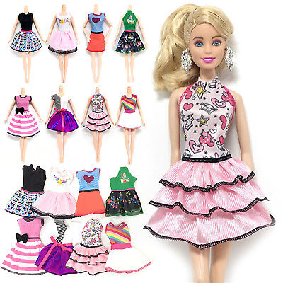 Beautiful Handmade Fashion Clothes Dress For Barbie Doll Cute Lovely Decor Newly