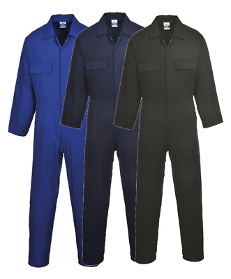 Cotton Coverall Overall Welding Mechanic Boiler Suit Euro Work Portwest S998