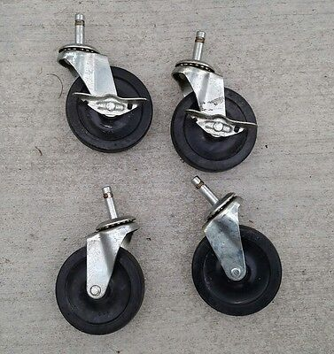 """Swivel Casters 4"""" x 1"""" Wheel with 7/16"""" Grip Ring Stem pin Set of 4"""