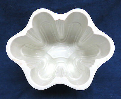 Antique 1800's Large, Heavy White Ironstone Jello Mold / Jelly Mould