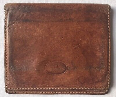 The Bridge Pelletteria Il Ponte Brown  Genuine Leather Wallet, Made In Italy