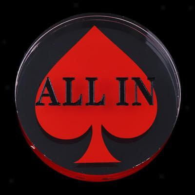 Acrylic Double Layer ALL IN Button Red for Casino Party Game Accessory