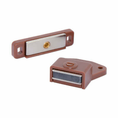 10x Strong DIY Cabinet Door Latch Magnet Rectangular BROWN | Cupboard Door Lock