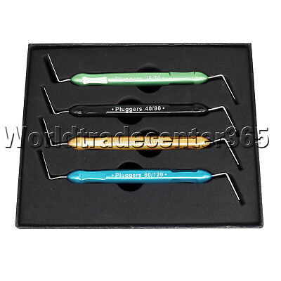 4 Pcs Dental SST/NITI Heat Carrier Plugger Endo Root Canal Spreaders & Pluggers
