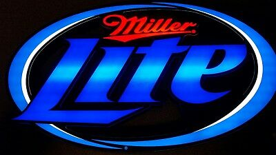 """new In The Box"", Miller Lite Vortex Logo, Led Beer Sign"