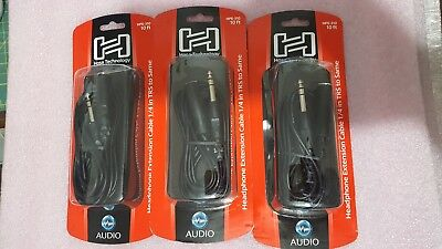 "Hosa HPE-310 10ft headphone extension cable Stereo 1/4"" Male to 1/4"" Female"