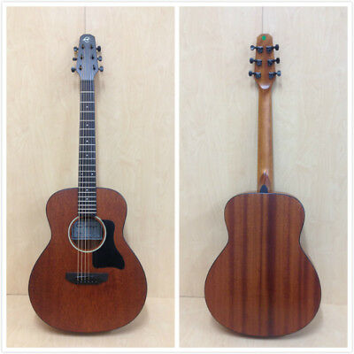 Caraya No-Back-Bracing All Mahogany Traveler Series Acoustic Guitar + Padded Bag
