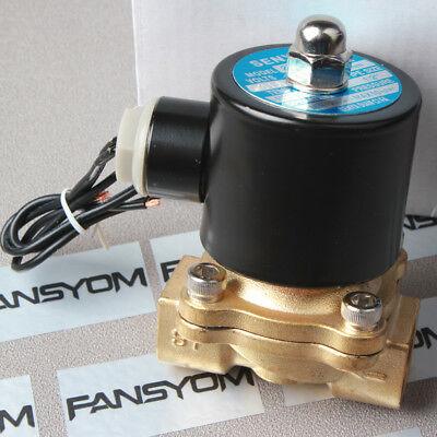 "Hot -SG 1/2"" Brass Electric Solenoid Valve 110V AC Water Air Normally Closed N/C"