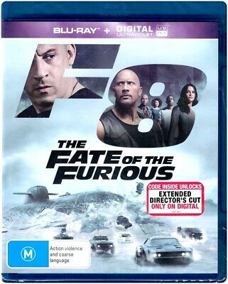 """F8: THE FATE OF THE FURIOUS"" Blu-ray + Digital UV - Region Free [A,B,C] NEW"