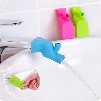 Elastic Silicone Tap Baby Faucet Extender Kids Hand Washing  Bathroom Sink Gift