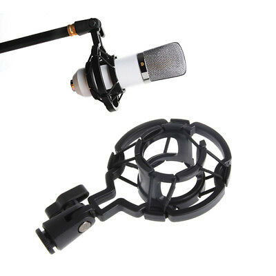 Plastic Mic Microphone Shock Mount Holder Clip Anti Vibration Bracket Stand