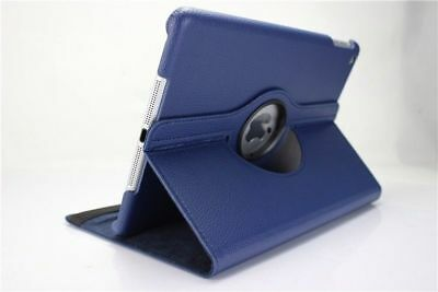 Blue - For Apple iPad Air 5th 360 Rotating Folding Stand Case Leather Cover US