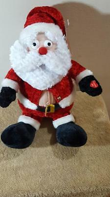 """Just for Laughs Silly Santa Uncontrollable Shaking & Laughter 10"""" Tall"""