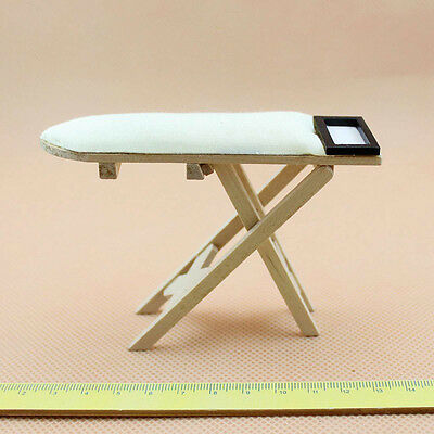 Miniature Bedroom Mini Craft Ironing Board Table for Dollhouse Prof