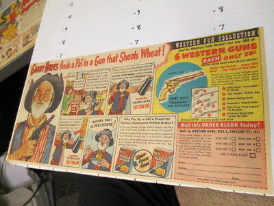 newspaper ad 1940s GABBY HAYES western gun set Quaker cereal box premium comic