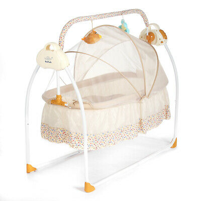 Smart Electric Baby Crib Music Cradle Infant Rocker Auto-Swing Sleep Bed Baby Be