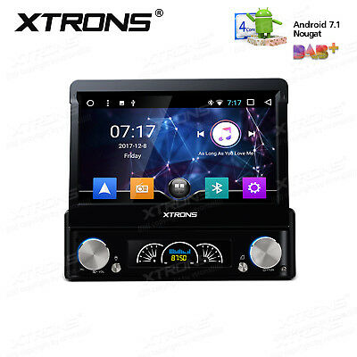 """7"""" HD 1080P Android 7.1 Single 1 Din Car GPS Stereo Radio Player Wifi 3G/4G DVD"""