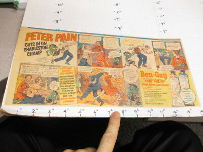 newspaper ad 1950s BEN GAY Peter Pain CUTS monster DASH Scottie dog food whistle