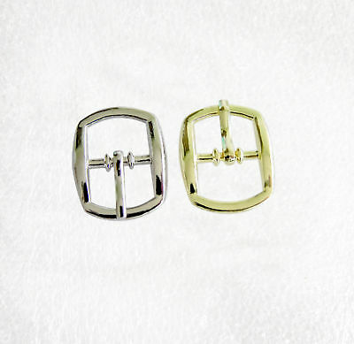 Plain Rounded Rectangle Shape Silver or Gold Buckles for 12mm straps