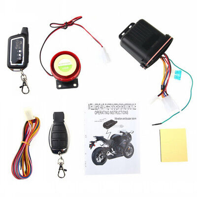 Anti-Theft 12V Motorcycle Motorbike Start Security Alarm System Remote Control #