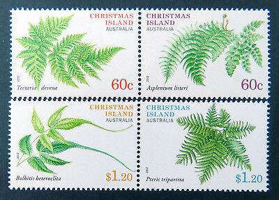 2012 Christmas Island Stamps - Christmas Island Plants - Set of 4 MNH