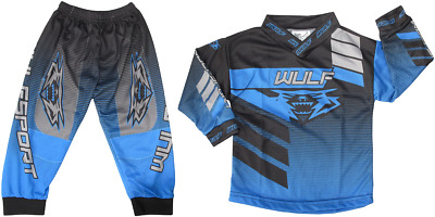 NEW Blue Wulfsport TODDLER Kids Motocross Jersey Pants Quad - Fits Up to 2 Yrs
