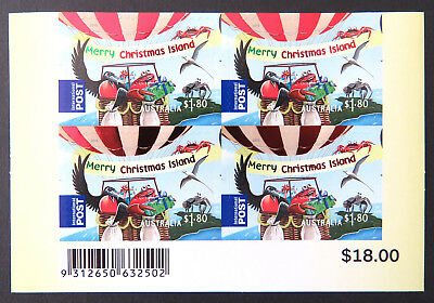 2013 Christmas Island Stamps - Christmas - P&S Block 4 x $1.80 Int'l Post MNH
