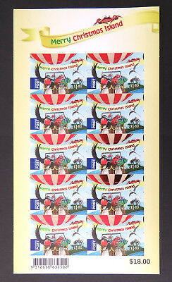 2013 Christmas Island Stamps - Christmas Sheetlet - 1 x $1.80 Int'l Post P&S MNH