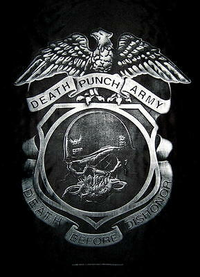 "Five Finger Death Punch Flagge / Fahne ""death Before Dishonor"" Posterflagge"