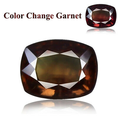 4.87ct 100% Natural earth mined rare brown - red under torch color change garnet