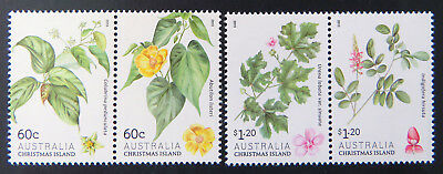 2013 Christmas Island Stamps - Christmas Island Flowers - Set of 4 MNH