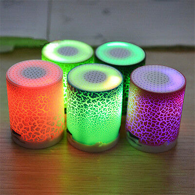 LED MINI Speaker TF USB Portable Wireless Music Sound Subwoofer Player